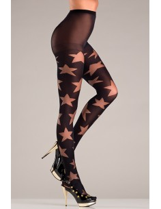 OPAQUE PANTYHOSE WITH STAR...