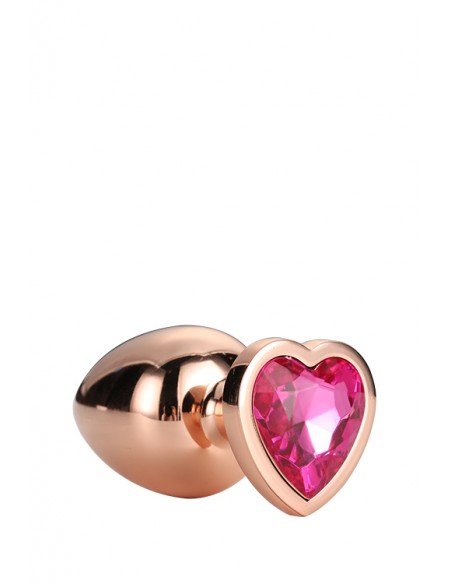 GLEAMING LOVE ROSE GOLD PLUG SMALL